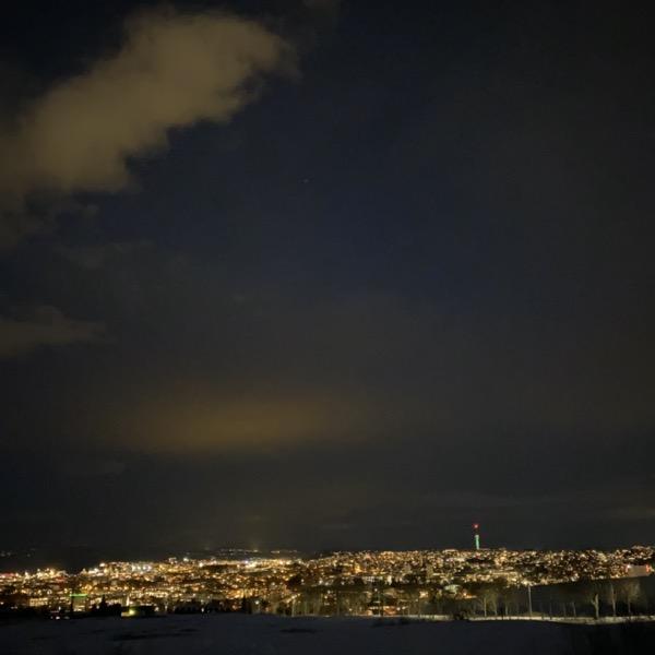 Trondheim fra Havstad, ikke Night Mode