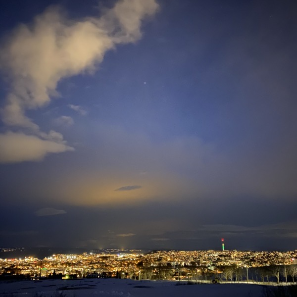 Trondheim fra Havstad, Night Mode